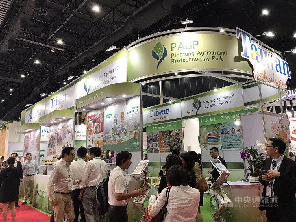 亞洲機能性食品原料展9月11到13日在曼谷舉行,行政院農業委員會農業生物科技園區率領6間食品廠商參加。 中央社記者呂欣憓曼谷攝 108年9月11日