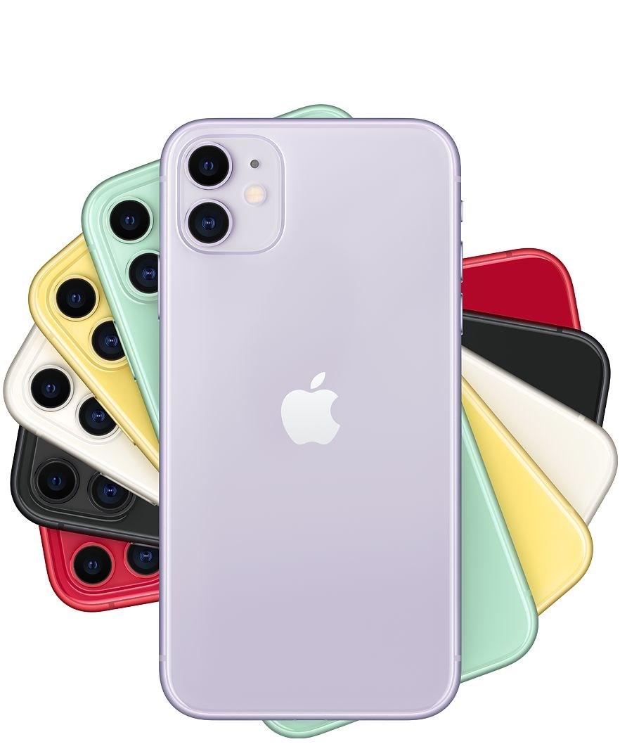 蘋果10日正式發表搭載雙鏡頭的iPhone 11(圖),以及配備3鏡頭的iPhone 11 Pro、iPhone 11 Pro Max,有網友雖認為3鏡頭設計不好看,但對價格變便宜普遍滿意。(圖取自蘋果公司網頁apple.com)