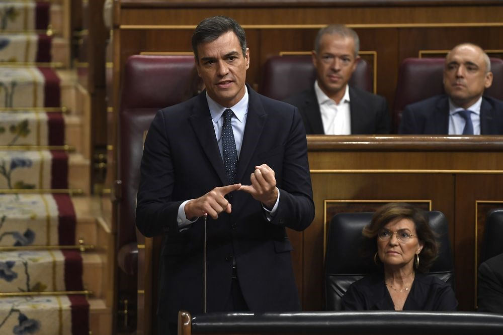 西班牙代理總理桑傑士(前)未能取得其他政黨支持籌組聯合政府後,西班牙預計11月將舉行4年來的第4次國會大選。(法新社提供)