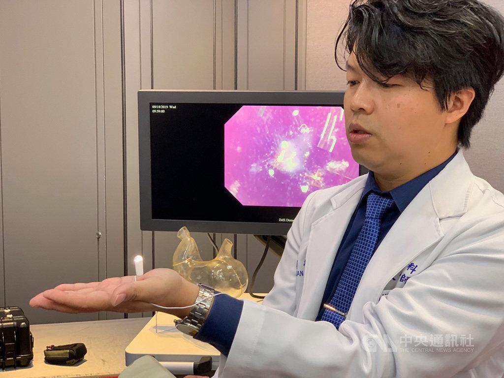 雷射標籤大廠光群雷轉投資的群曜醫電18日舉辦記者會,宣布自行研發的磁控上消化道內視鏡正式上市。中央社記者吳家豪攝  108年9月18日
