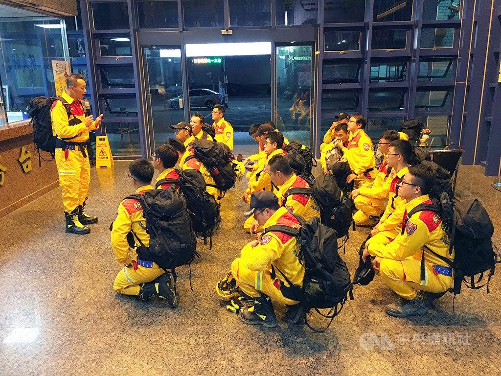適逢九二一震災20年暨莫拉克風災10年,新竹市消防局強化特種搜救隊機動力,18日舉辦整備動員集結模擬測試。(新竹市消防局提供)中央社記者郭宣彣新竹市傳真 108年9月18日