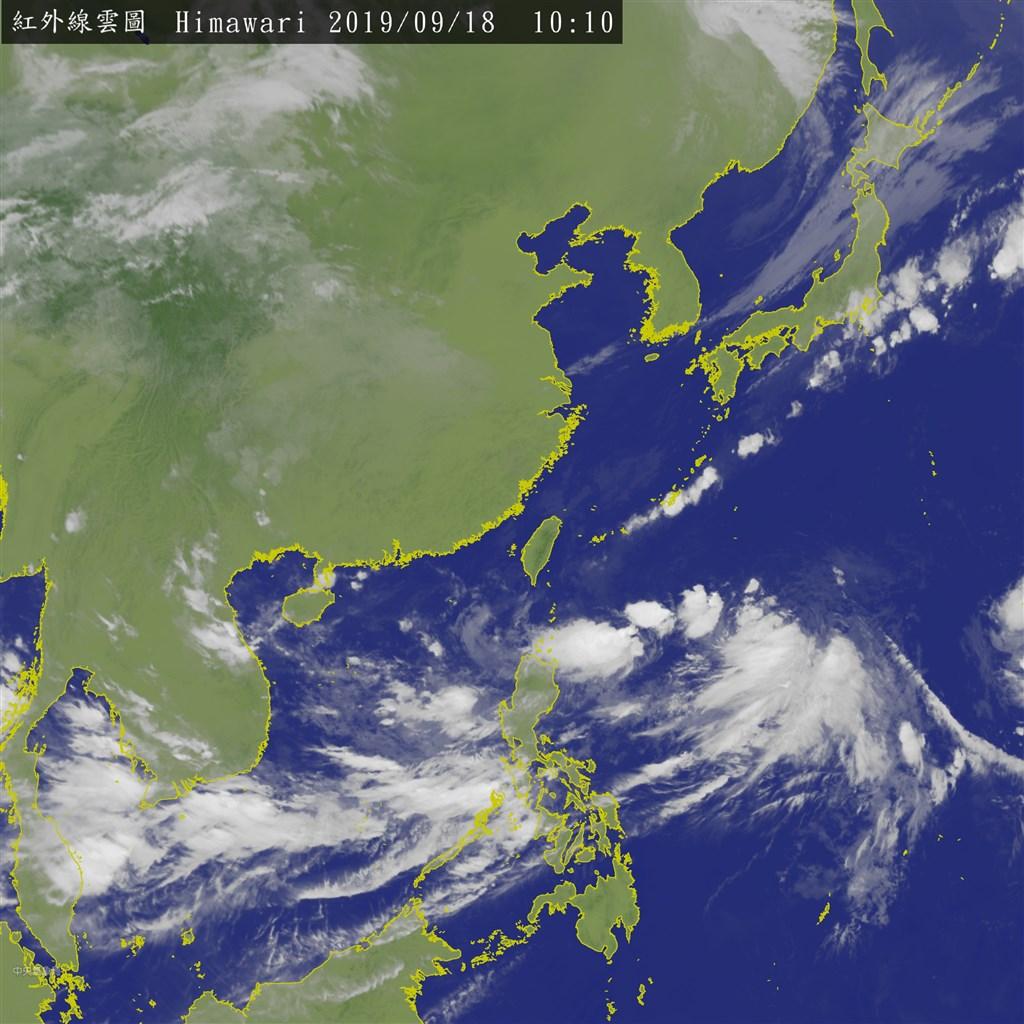 氣象專家吳德榮表示,「季風低壓」環流預計19日沿著台灣東側海面北上。(圖取自中央氣象局網頁cwb.gov.tw)