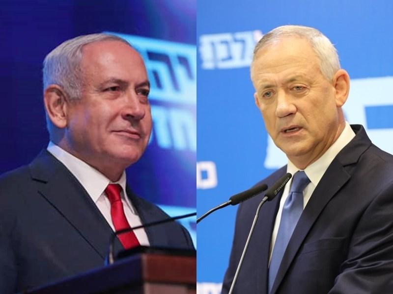 以色列在9月大選後再度陷入僵局,總理尼坦雅胡(左)21日告知總統,他無法組成新政府,讓對手甘茨(右)有機會嘗試組閣。(左圖取自facebook.com/Netanyahu;右圖取自facebook.com/BeGantz)