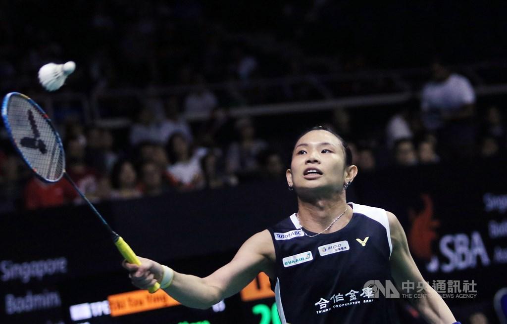 台灣羽球一姐戴資穎20日在中國羽球公開賽扳倒泰國女將布莎南,闖進4強。(中央社檔案照片)