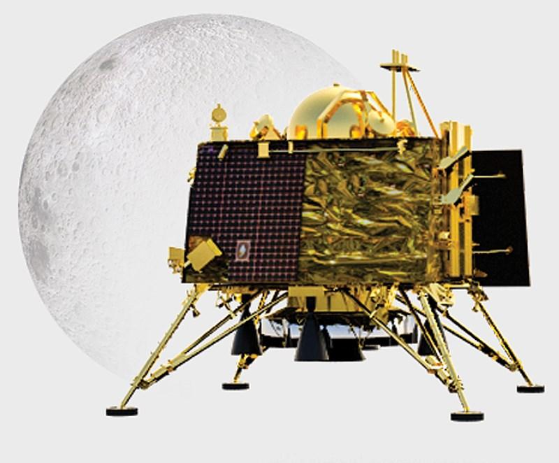 印度月球飛船二號的維克蘭登陸器(圖)7日登月後即失去聯繫,迄今重新建立聯繫都沒有成功。(圖取自ISRO網頁isro.gov.in)