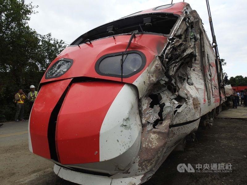 台鐵第6432次普悠瑪2018年10月21日下午行經宜蘭新馬站時高速過彎出軌,造成18人死亡、267人受傷。(中央社檔案照片)