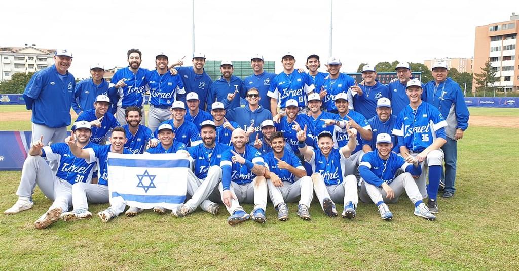 爭取2020年東京奧運棒球賽門票,以色列22日在歐非區資格賽以11比1、8局擊敗南非隊,成為繼日本後第2支確定拿下奧運參賽門票的球隊。(圖取自facebook.com/IABIsraelBaseball)