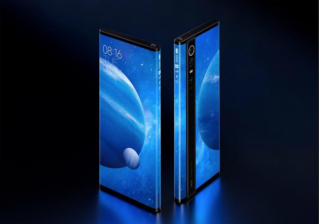 小米今天亮相全新MIX系列概念手機 MIX Alpha,搭載180%超高螢幕占比「環繞屏」,手機正面、側面、背面幾乎都是螢幕。(小米提供)中央社記者江明晏傳真 108年9月24日