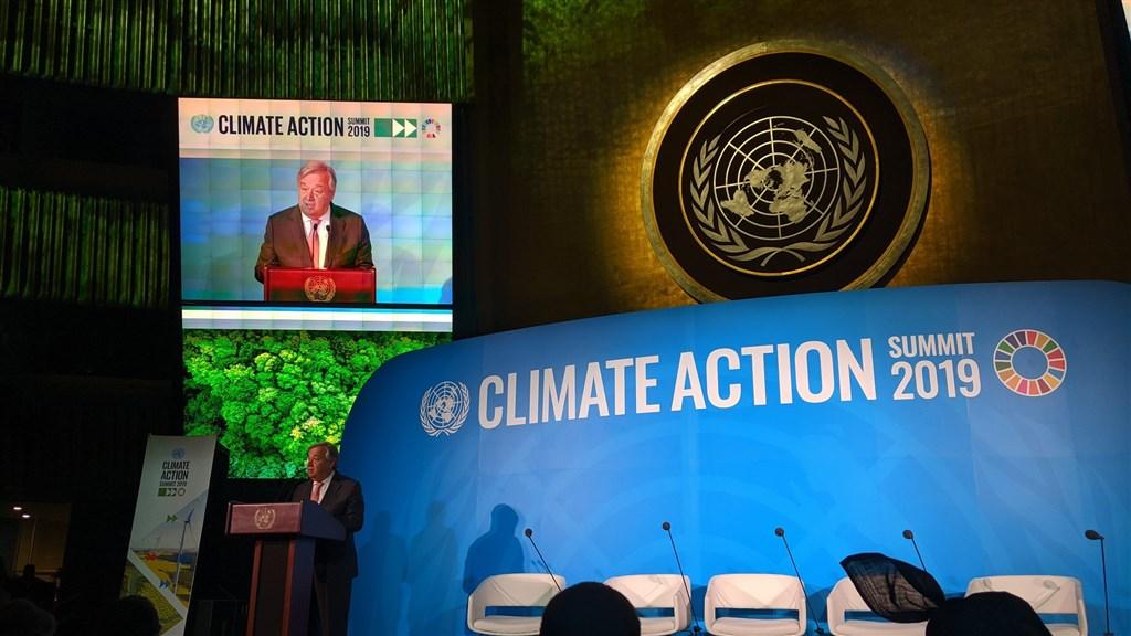 聯合國秘書長古特瑞斯23日聲明表示,66國已表態願意在2050年前達成二氧化碳零淨排放。(圖取自twitter.com/UN_Spokesperson)