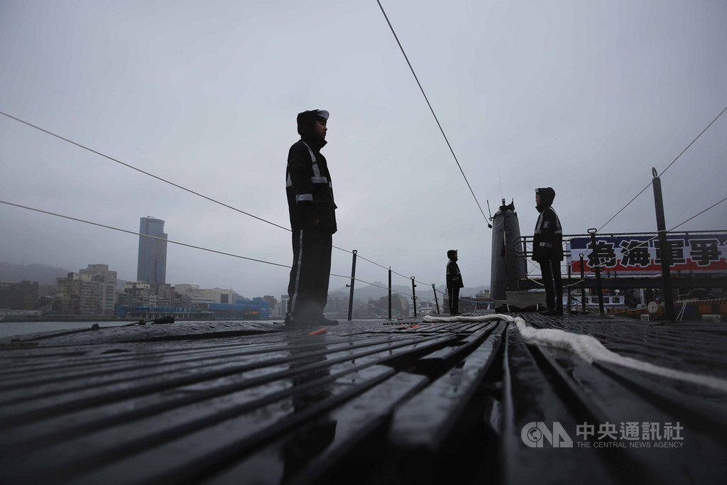 海軍28日將在基隆港區東、西碼頭舉辦營區開放,海獅潛艦將對外開放。中央社記者游凱翔攝 108年9月27日