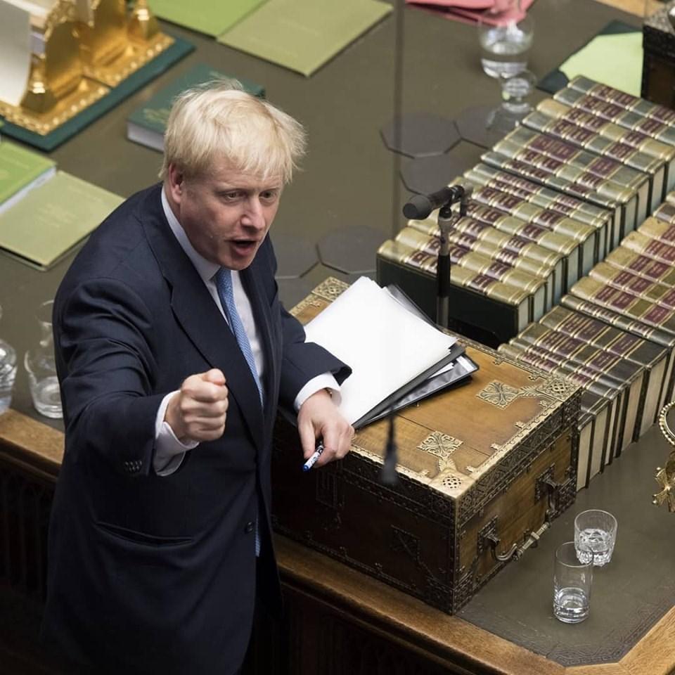 英國首相辦公室2日表示,首相強生(圖)打算要求在10月8日到14日關閉國會。(圖取自facebook.com/ukparliament)