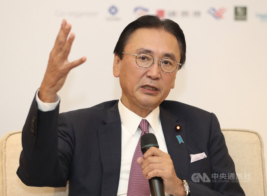 日本眾議員、「日華議員懇談會」會長古屋圭司9日出席記者會表示,台灣的經濟力量很大,已具備相關環境,日本要跟理念相近國家合作,推動台灣加入跨太平洋夥伴全面進步協定(CPTPP)。中央社記者張皓安攝  108年10月9日