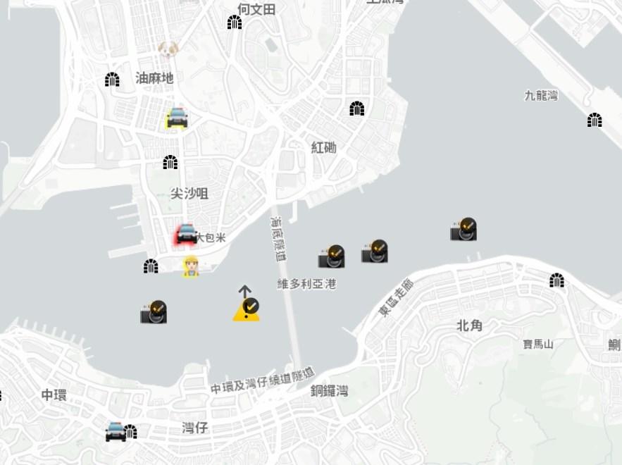 蘋果公司在中國官媒批評後,將香港抗爭地圖App下架,遭外界譴責把在中國的商業利益置於人權之前。(圖取自hkmap.live)