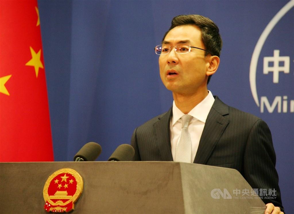 針對NBA總裁席佛指中國政府要求NBA開除火箭隊總經理摩瑞,中國外交部發言人耿爽(圖)表示,中國政府從來沒有提出過這樣的要求。(中央社檔案照片)