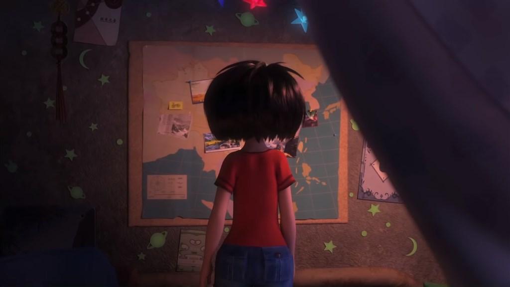 動畫電影「壞壞萌雪怪」片中出現南海「九段線」的畫面,越南日前因此下架禁播。(圖取自DreamWorksTV YouTube網頁youtube.com)