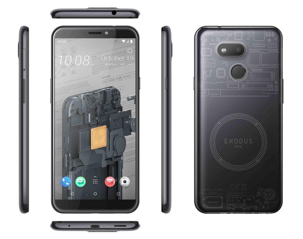 宏達電宣布推出區塊鏈新機EXODUS 1s,這是HTC內建硬體錢包創新機種EXODUS 1的平價版本,售價新台幣5990元。(宏達電提供)中央社記者江明晏傳真 108年10月21日