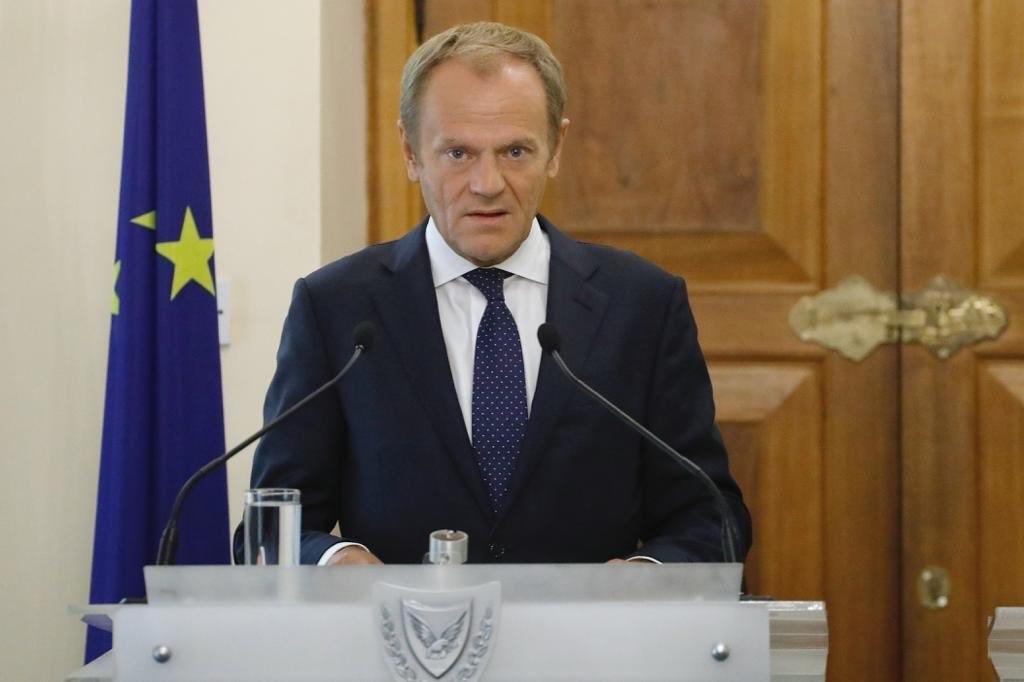 歐洲理事會主席圖斯克(圖)表示,英國首相強生決定中止法案,為避免無協議脫歐,將建議歐盟27成員國接受英國延後脫歐期限的請求。(圖取自twitter.com/eucopresident)
