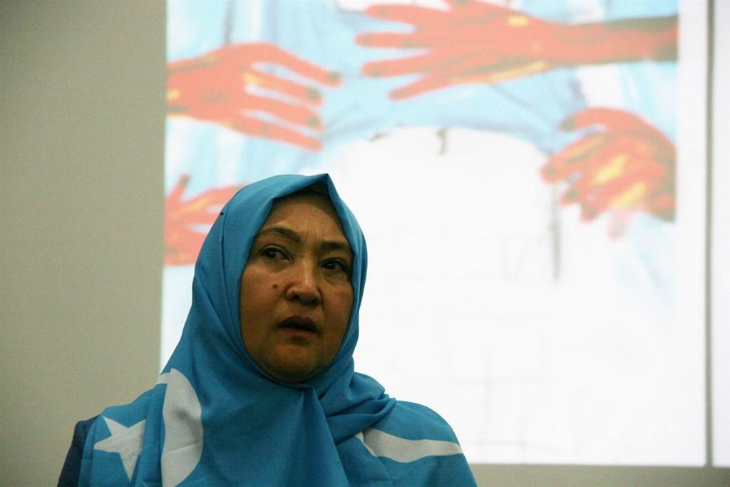 哈薩克共和國的維吾爾裔女子古力巴哈(圖)2017年因經商入境新疆烏魯木齊,隨後遭中共監禁長達1年3個多月。中央社記者繆宗翰攝 108年10月26日