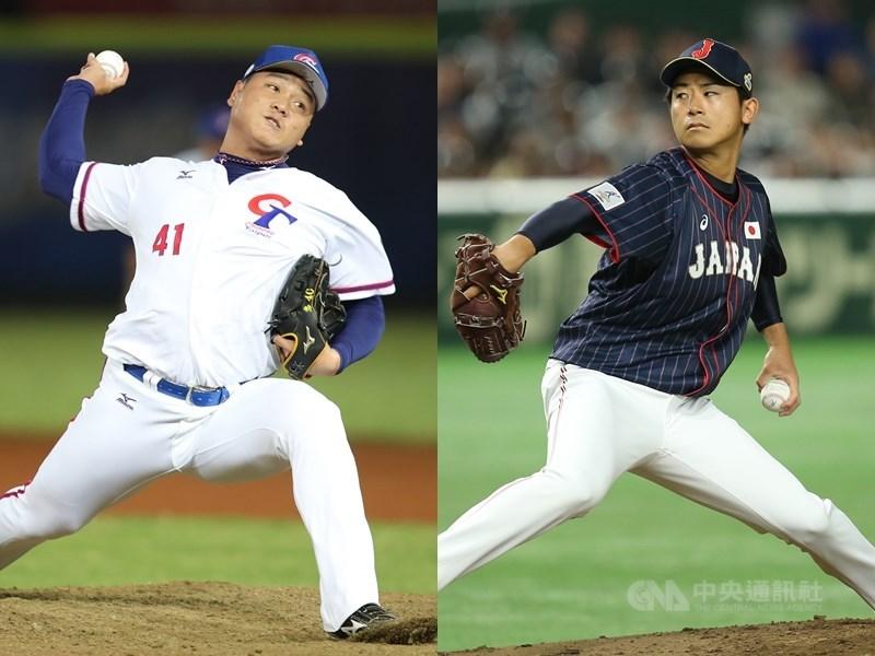 世界棒球12強賽B組預賽中華隊與日本隊7日將正面對決,中華隊推出廖乙忠(左)先發,日本則是左投今永昇太掛帥主投。(中央社檔案照片)