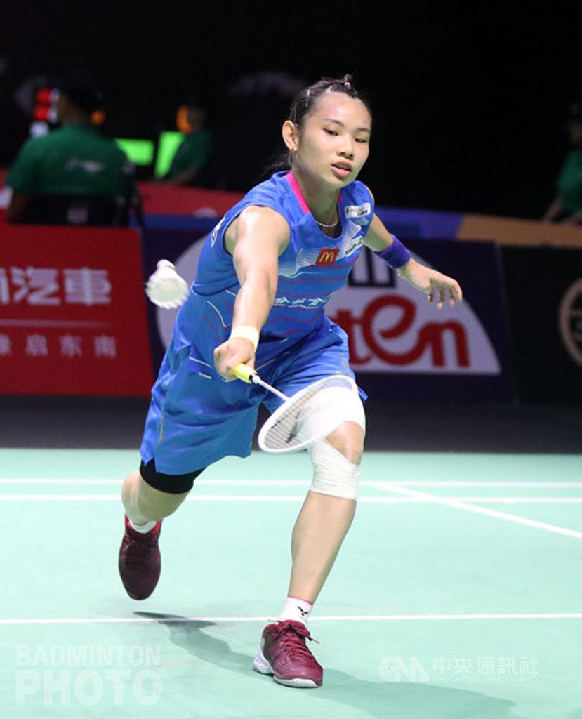 戴資穎(圖)8日在2019福州中國羽球公開賽女單8強賽擊退南韓女將,闖進4強。(Badmintonphoto提供)中央社記者龍柏安傳真 108年11月7日
