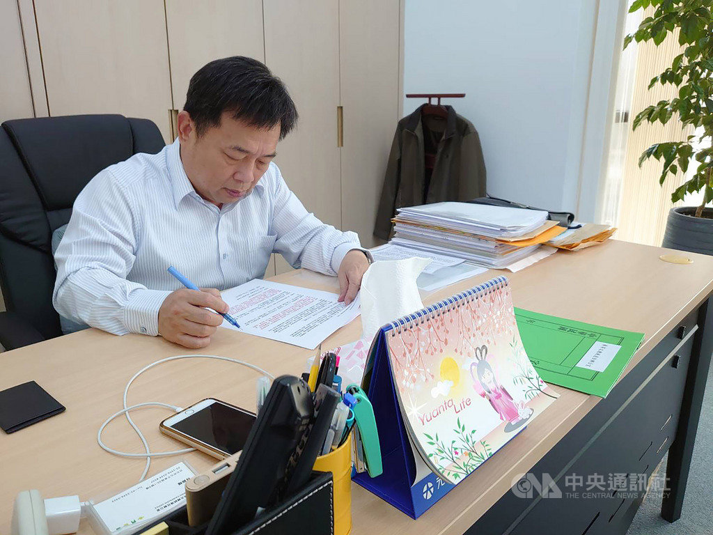 前行政院副院長林錫耀接下蔡總統2020連任操盤兵符,他說,面對2020大選,一點都不敢大意。中央社記者溫貴香攝 108年11月9日