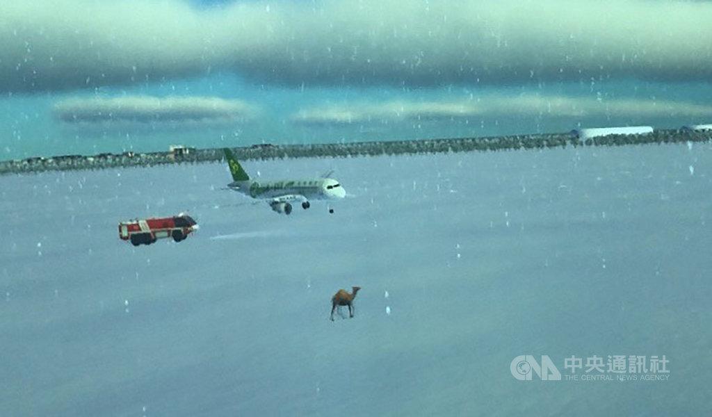 桃園國際機場新塔台將於12月16日啟用。新塔台設有一個360度的塔台模擬機,可設計各種特殊狀況,譬如機場下雪或駱駝入侵跑道等。中央社記者汪淑芬攝 108年11月12日