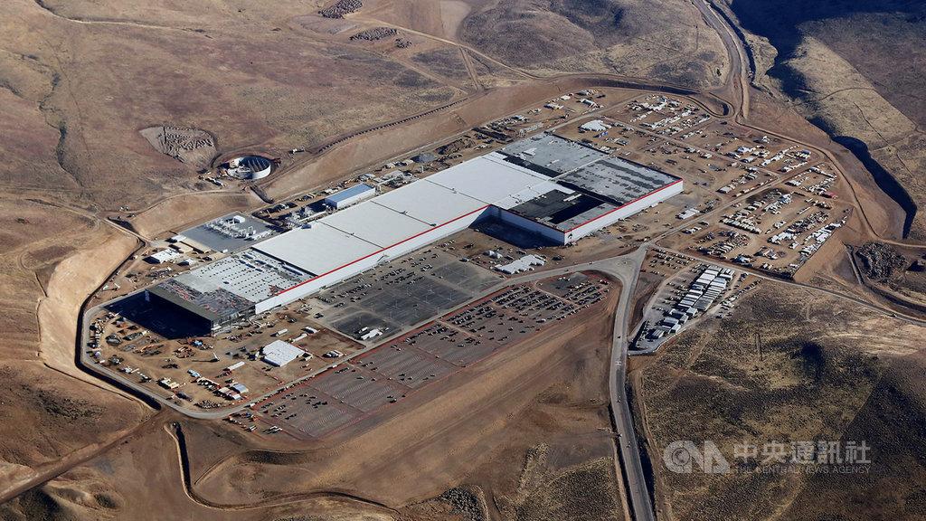 特斯拉計劃在德國首都柏林的近郊興建歐洲首座工廠,圖為特斯拉在美國內華達州興建的第一座超級電池廠。(特斯拉提供)中央社記者林育立柏林傳真 108年11月13日