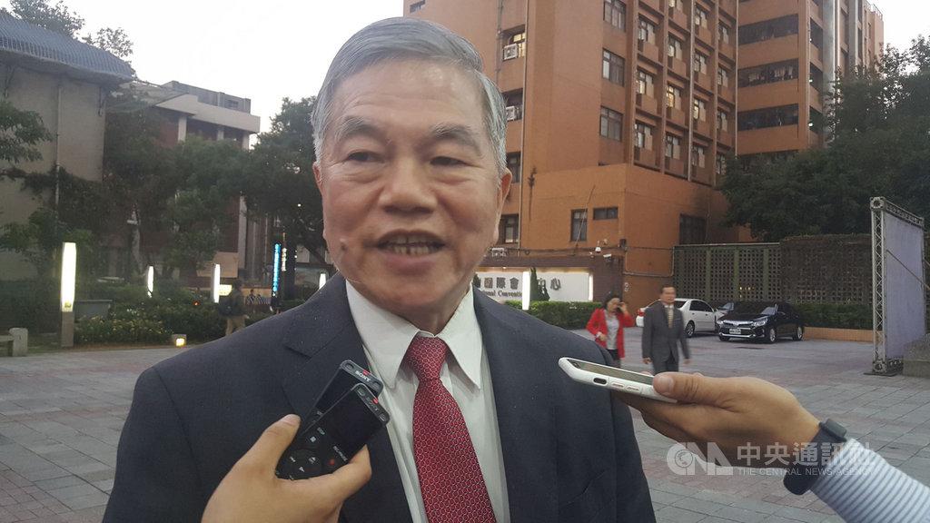 針對國民黨總統參選人韓國瑜陣營對能源政策的批評,經濟部長沈榮津(圖)13日受訪表示,核廢再利用仍會產生廢料,無法解決核廢料問題。中央社記者廖禹揚攝 108年11月13日