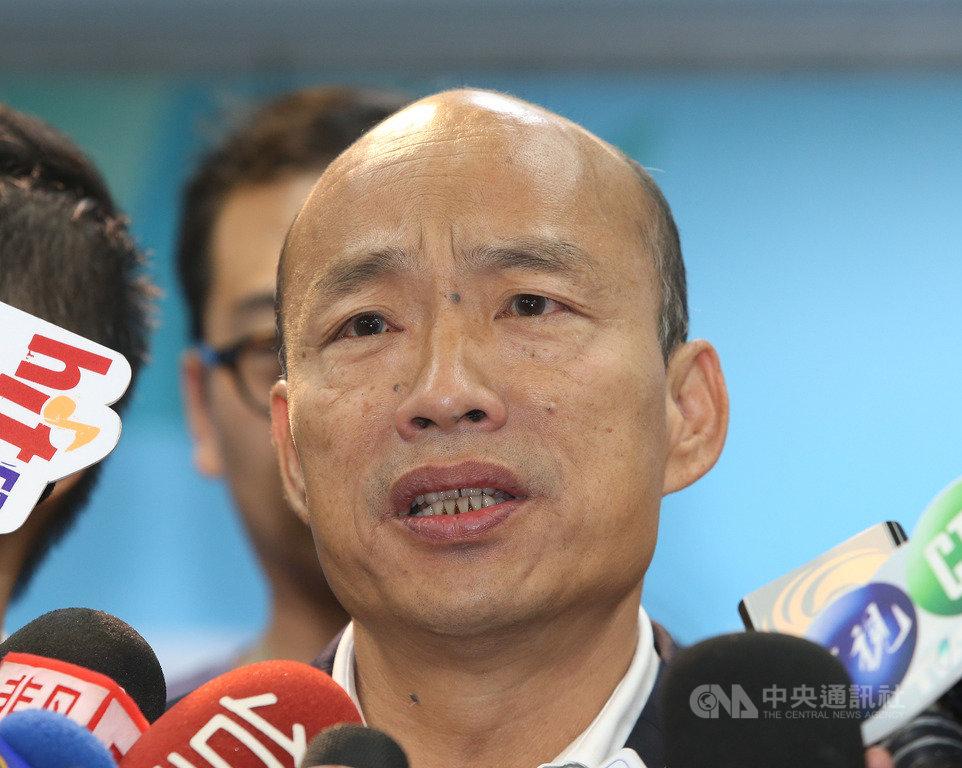 國民黨不分區立委名單13日正式出爐,黨提名總統參選人韓國瑜受訪表示,很多公布的人選他並不認識,只有部分認識。中央社記者郭日曉攝 108年11月13日