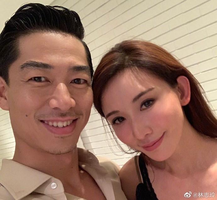 外傳藝人林志玲(右)婚禮17日將在台南市美術館1館舉辦,館方14日證實,昨晚已收到租借合約。(圖取自林志玲微博網頁)