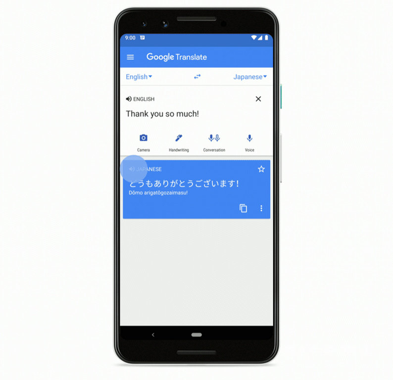 Google地圖結合Google翻譯,將從11月開始新增翻譯功能,可讓使用者在手機上直接播放以當地語言唸出的地點名稱和地址。(Google提供)中央社記者吳家豪傳真 108年11月14日