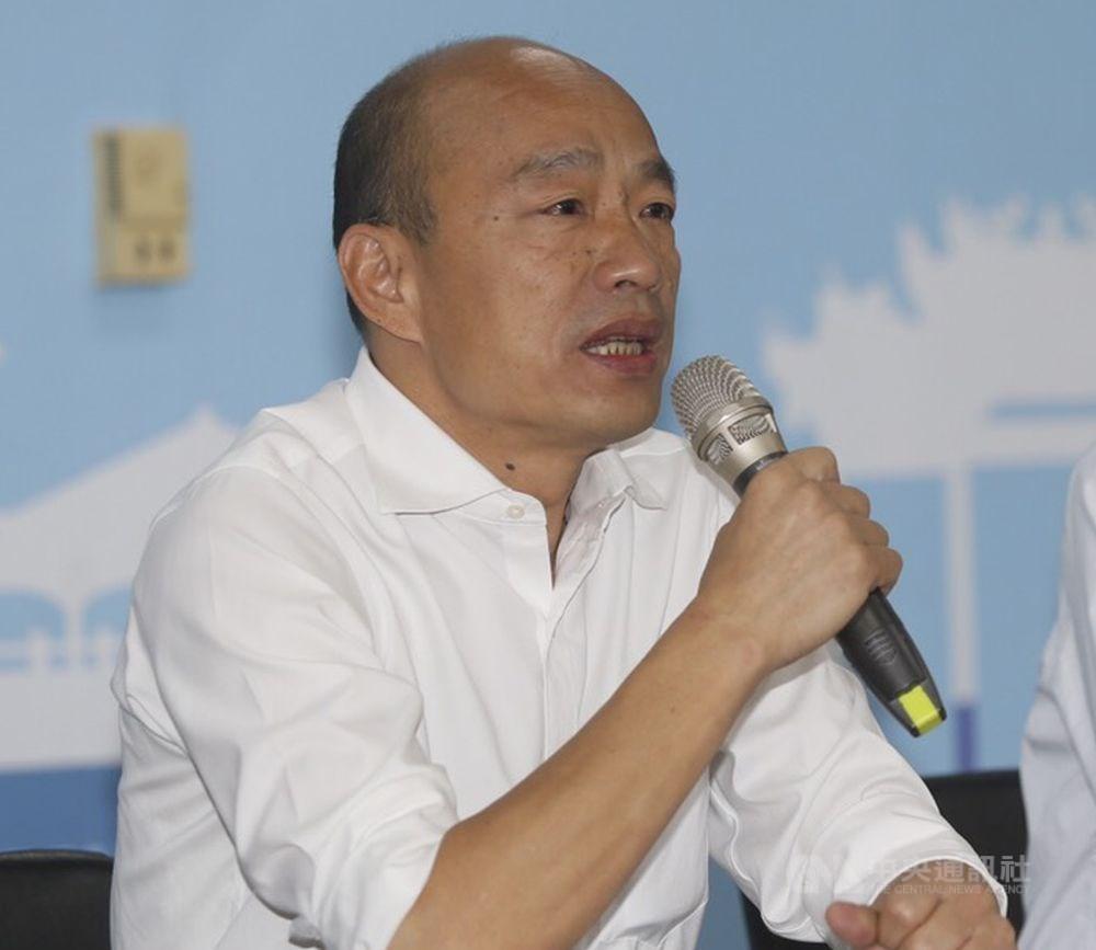 國民黨總統參選人韓國瑜(圖)日前被爆購買南港豪宅,遭綠營攻擊為假庶民。韓國瑜競選辦公室15日公布韓國瑜夫婦買賣房產的詳細資訊。(中央社檔案照片)