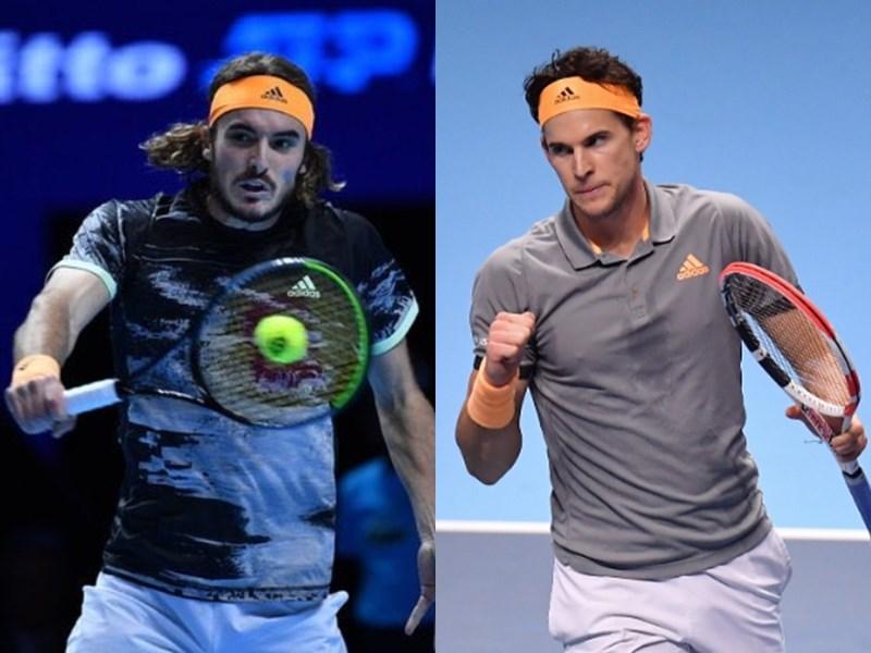 希臘選手西西帕斯(左)和奧地利選手提姆(右)接下來將在ATP世界巡迴年終賽決賽正面交鋒。(左圖取自twitter.com/StefTsitsipas、右圖取自twitter.com/ThiemDomi)