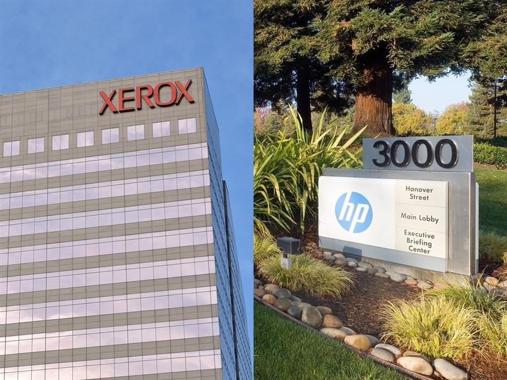 個人電腦大廠惠普17日表示,公司已拒絕影印機廠商全錄的收購提案。左圖為紐約全錄大樓、右圖為惠普總部。(圖取自維基共享資源;版權CC0)