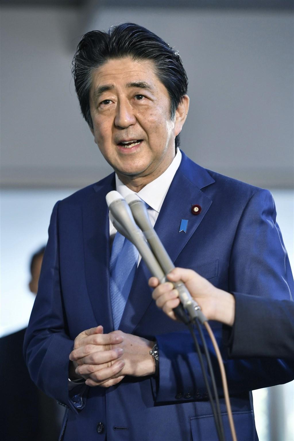 日本首相安倍晉三擔任首相2887天,創日本憲政史上任期最長紀錄。(共同社提供)