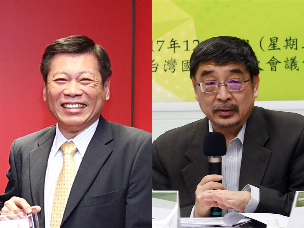 喜樂島聯盟22日公布6席不分區立委名單,法醫高大成(左)、喜樂島聯盟副主席施正鋒(右)等人入列。(中央社檔案照片)