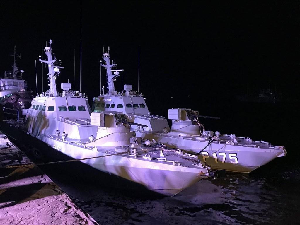 俄羅斯2018年扣押的3艘烏克蘭海軍艦艇20日返抵烏克蘭港口。(圖取自facebook.com/zelenskiy95)