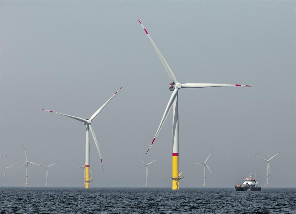 德國萊茵集團(RWE)旗下的Arkona離岸風場,位於波羅的海。(萊茵集團提供) 中央社記者林育立柏林傳真 108年11月28日