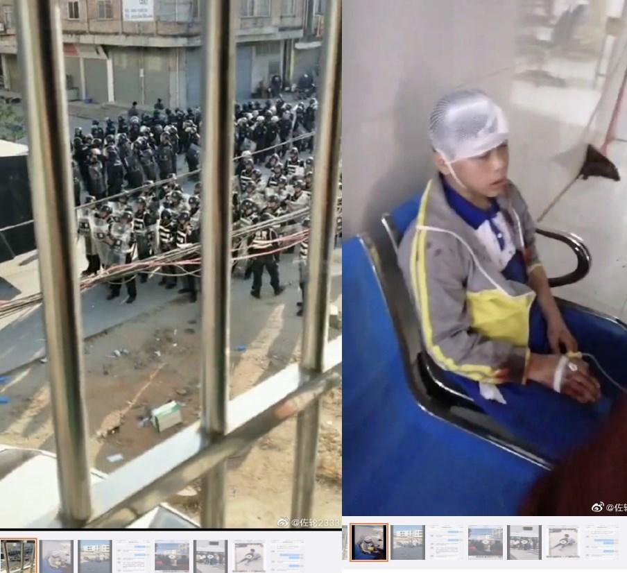 廣東民眾連日反對當地興建火葬場,卻遭警方鎮壓。(圖取自網友微博網頁weibo.com/u/5705802943)