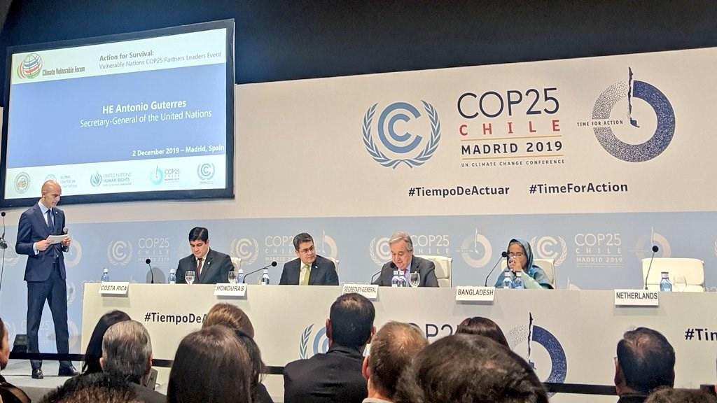 為期兩週的聯合國氣候峰會2日在西班牙首都馬德里正式開幕。(圖取自twitter.com/UN_Spokesperson)
