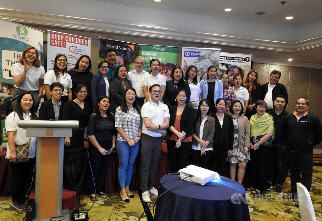 家扶國際聯盟(ChildFund Alliance)、國際培幼會(Plan International)、拯救兒童基金會(Save the Children)的菲國分部等兒福團體合組的「菲律賓聯合力量」11月29日發表菲律賓兒童權利現況報告。中央社記者陳妍君馬尼拉攝 108年12月2日