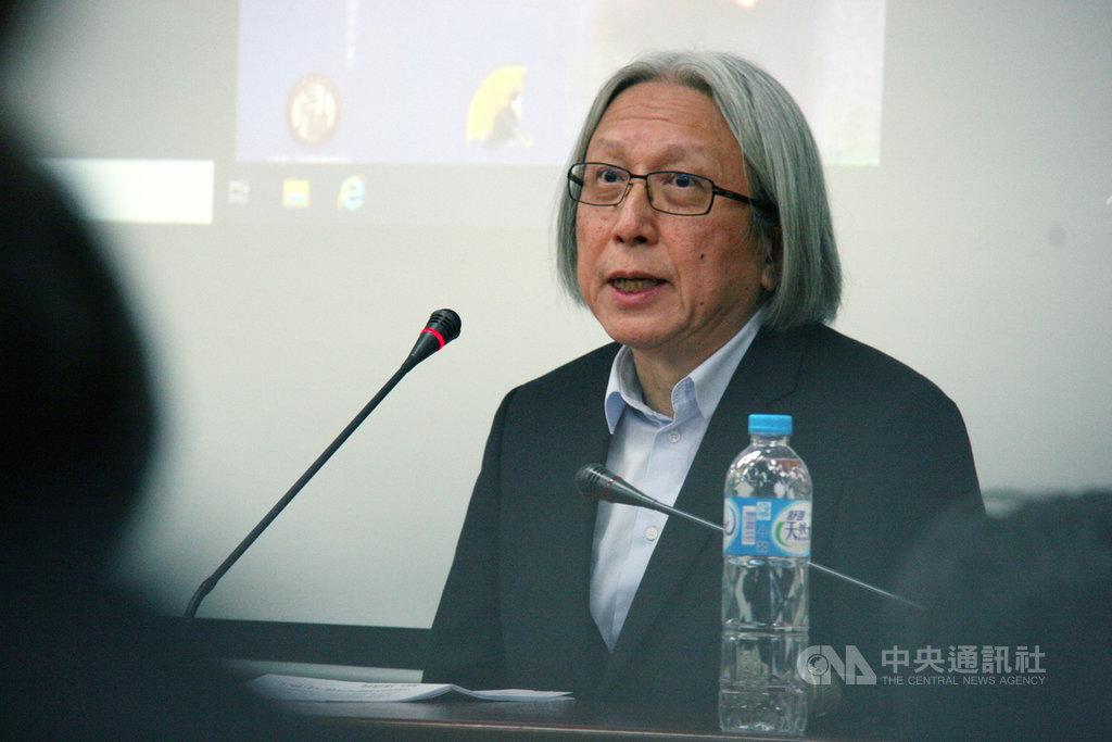 香港知名作家陳冠中3日在台北演講時指出,自2003年嘗試推動基本法23條開始,北京越想同化港人,越是激起反抗。中央社記者繆宗翰攝 108年12月3日