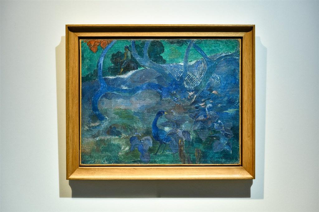 法國後印象派畫家高更珍貴畫作「樹」3日以950萬歐元(約新台幣3億2000萬元)賣出。(圖取自facebook.com/artcurial)