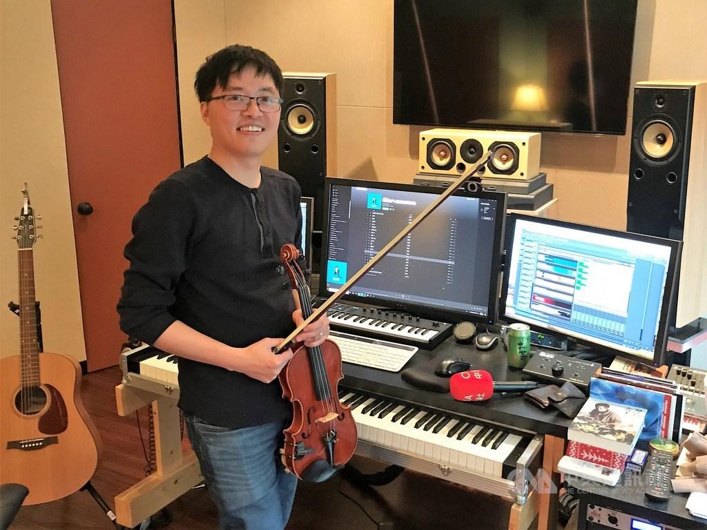 台灣作曲家陳彥竹(圖)在好萊塢所在地的洛杉磯從事電影、電視配樂,今年因電視劇「魂囚西門」入圍金鐘獎音效獎。中央社記者林宏翰洛杉磯攝 108年12月7日