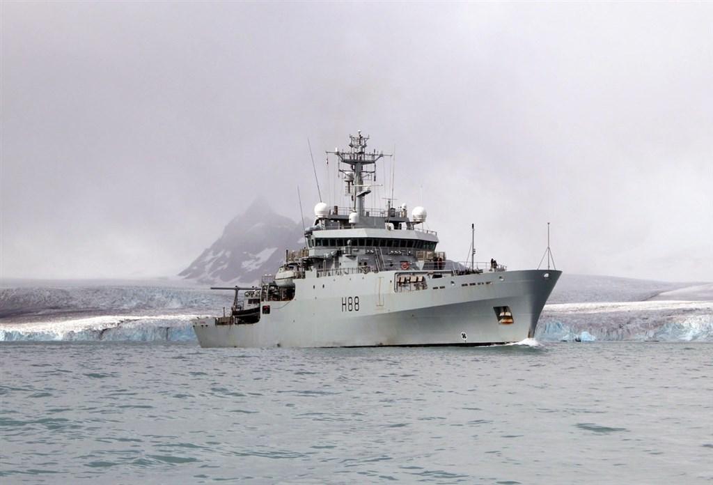 國防部7日證實並表示,英國海軍測量船「企業號」(H88),由南向北航經台灣海峽。(圖取自英國皇家海軍網頁royalnavy.mod.uk)