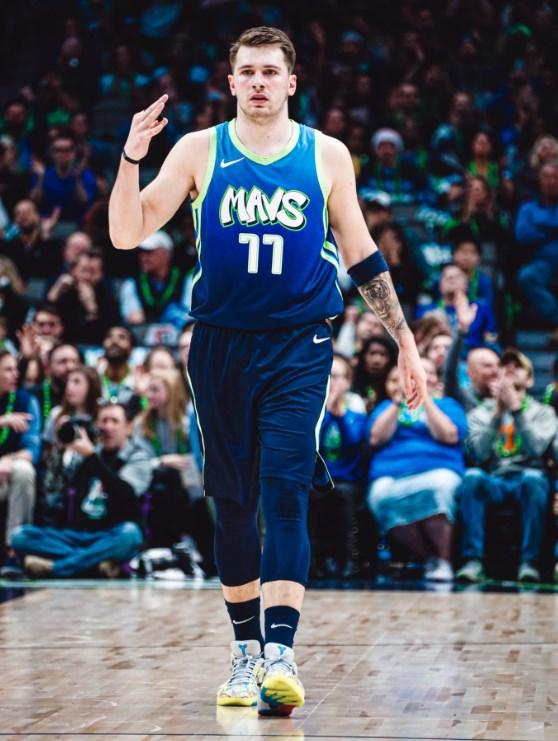 NBA達拉斯獨行俠的唐西奇7日繳出26分、6籃板、9助攻。(圖取自twitter.com/dallasmavs)