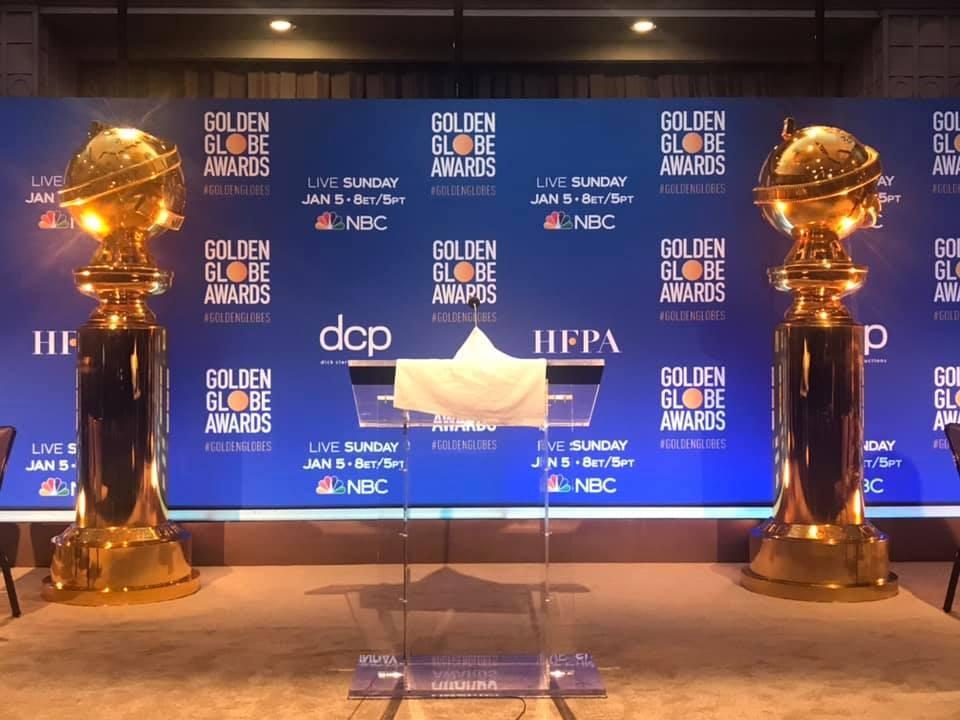 第77屆金球獎入圍名單9日揭曉,頒獎典禮將於2020年1月5日舉行。(圖取自www.facebook.com/GoldenGlobes)