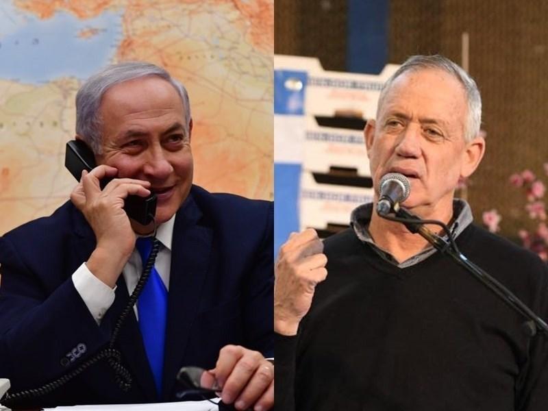以色列總理尼坦雅胡(左)與主要對手甘茨(右)數天來相互中傷,兩人也一直未能在國會中取得執政多數。(左圖取自facebook.com/Netanyahu;右圖取自facebook.com/BeGantz)