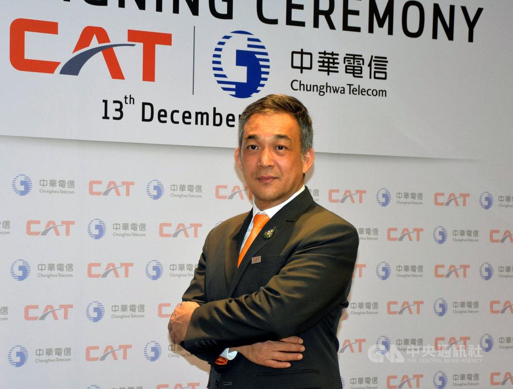 中華電信和泰國電信商CAT簽署合作備忘錄,共同發展智慧城市商機。CAT總裁桑帕猜表示,CAT在泰國有設施,中華電信有技術,雙方可以共同開拓客戶。中央社記者呂欣憓曼谷攝 108年12月13日