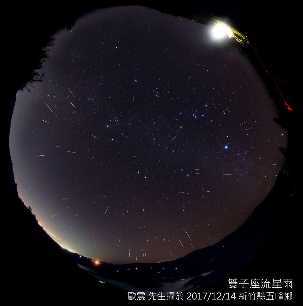雙子座流星雨極大期將於14日及15日登場,全台晚上只要不受到雲遮蔽,都有機會看到流星雨。(圖取自台北天文館網頁tam.gov.taipei)